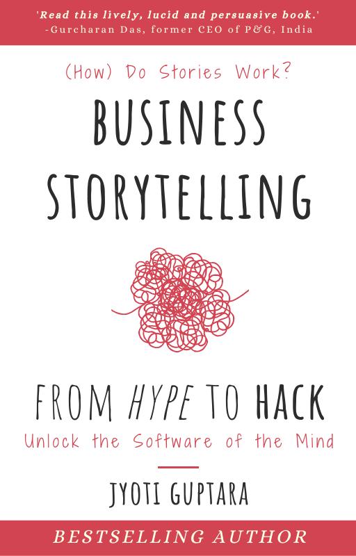 Business Storytelling book by expert consultant coach Jyoti Guptara